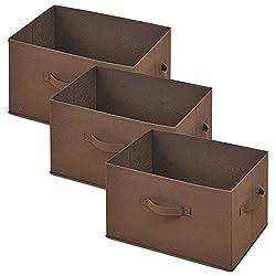 山善(YAMAZEN) どこでも収納ボックス(3個セット) ブラウン YTCF3P(BR)