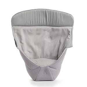 エルゴベビー(Ergobaby) インファントインサートIII (新生児 対面抱き用) [正規代理店1年間保証付] 抱っこ紐用 赤ちゃんの自然な姿勢を支えるクッション (ベビーキャリアと一体化) クールエア グレー CKEGIIPCMGRYV3