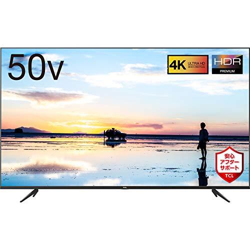 TCL 50V型 4K液晶テレビ HDR搭載 鮮やかな色彩 裏番組録画対応 2019年モデル 50K601U