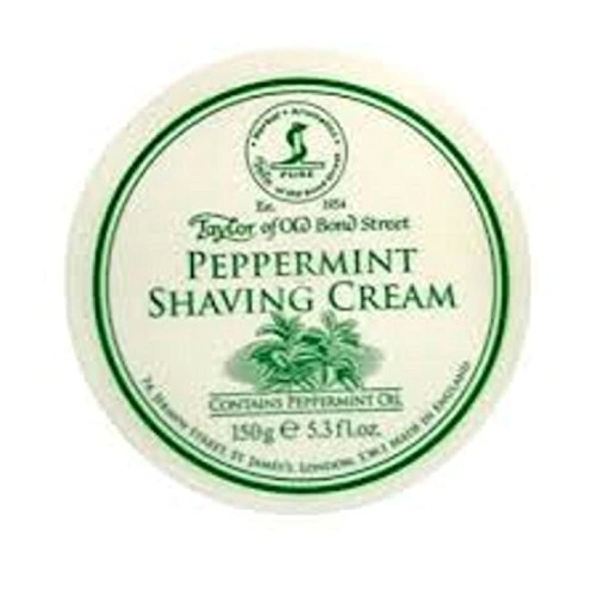 排他的連邦女優Taylors of Old Bond Street 150g Traditional Shaving Cream Tub (Peppermint) by Taylor of Old Bond Street