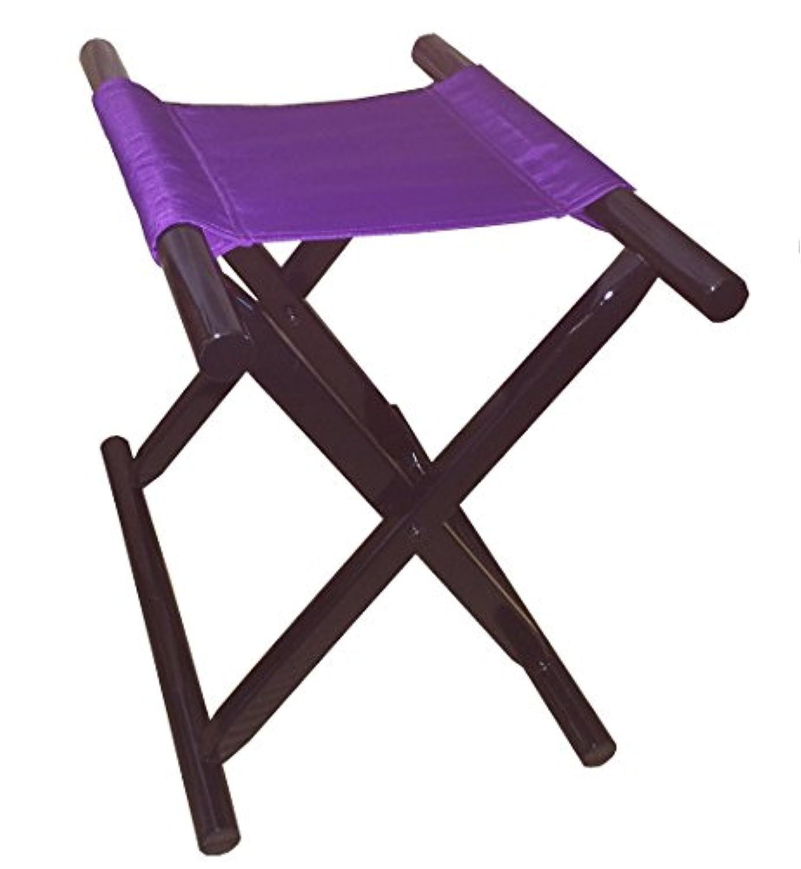 胡床のトップメーカー鈴木木工所製 角太足胡床黒塗紫布