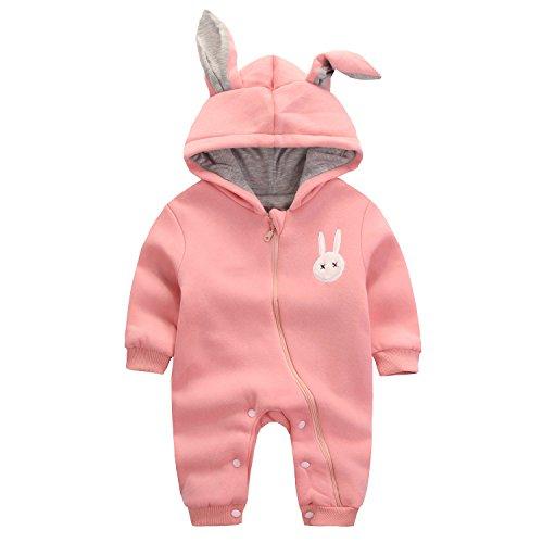 5f04d3612540b エルフ ベビー(Fairy Baby) 赤ちゃん着ぐるみ カバーオール ロンパース フード付き うさぎ耳 長袖防寒
