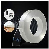 痕跡のない洗える粘着テープ、再利用可能な透明粘着シリコンテープ、自由に剥がす、ガラスの金属に貼り付ける、キッチンキャビネットなど 0110 (Size : 3 m length)