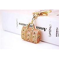 FenBuGu-JPFenBuGu-JP 韓国スタイルの愛のハンドバッグキーホルダーキージュエリーファッションの小物の袋キーホルダーの装飾_コーヒー