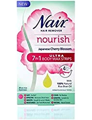 Nair Nourish Japanese Cherry Blossom 7 In 1 Ultra Body Wax Strips 20s - Nairさんは1ウルトラボディワックスストリップ20代の日本の桜7を養います...