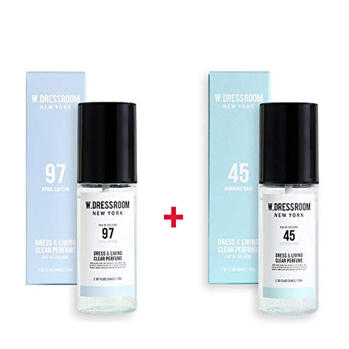 抜本的な鈍い臭いW.DRESSROOM Dress & Living Clear Perfume 70ml (No 97 April Cotton)+(No 45 Morning Rain)
