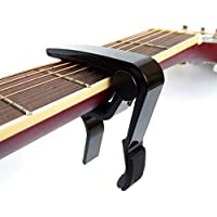 カポタストワンタッチ ギターカポ タスト-BSmusic ギター、エレキギター、弦楽器など用 (黒)