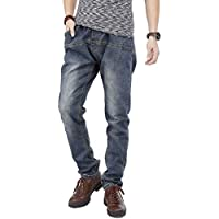 PY-BIGG Mens Jeans Regular Fit Big Tall Jogger Pants Stretch Casual Workwear Elastic Waist Plus Size 30W-46W