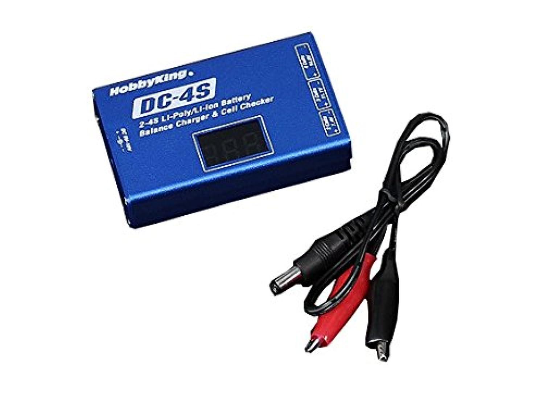 ホビーキングDC-4Sバランスチャージャ リポチェッカー内蔵小型充電器