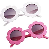 D DOLITY 2 Pieces Child Kids Boy Girl UV400 Outdoor Sunglasses Baby Flower Shades Goggles Glasses