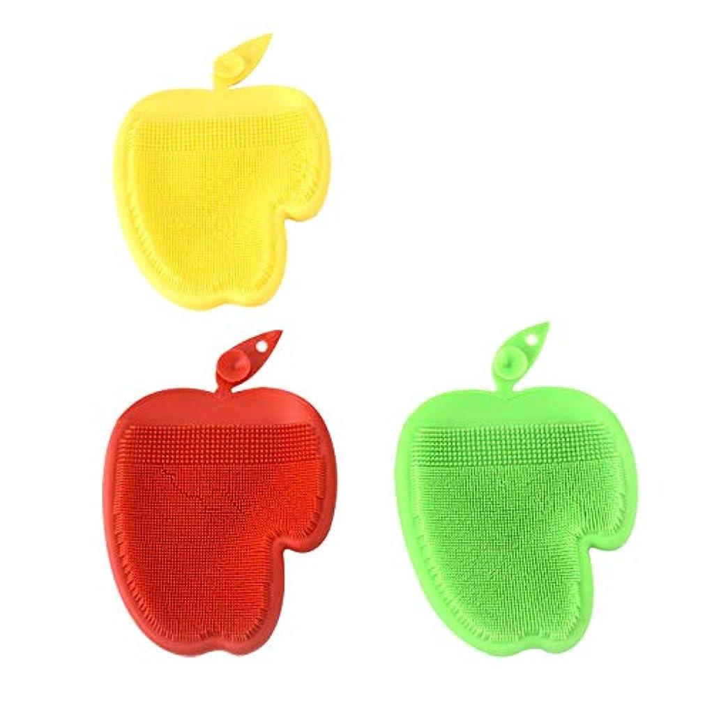説得仮装チャーター1ピースクリーニングブラシ、キッチン便利な得点パッドスクラバークリーニングブラシキッチンツール (黄)