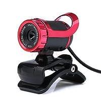 360° USB 2.0WebカメラWebカメラHD 50MP with MICクリップオンforデスクトップPCノートパソコン