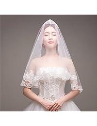 シュウクラブ- 花嫁のベール1.5 Mプラムスパンコール韓国のウェディングドレスドレスアクセサリー長い白輸入ソフト紡績糸