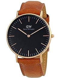 CLASSIC BLACK新品Daniel Wellington ダニエル ウェリントンCORNWALL レディース腕時計 クラッシーナイロン 腕時計 ピンクゴールド 36mm [並行輸入品]