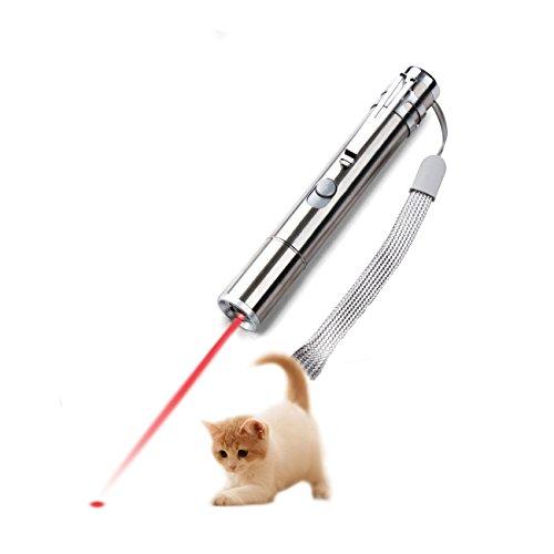猫 おもちゃ led 光るおもちゃ 遊び 2in1 USB充電式 mini LEDライト 猫じゃらし 猫運動不足解消 日本語取扱書付き