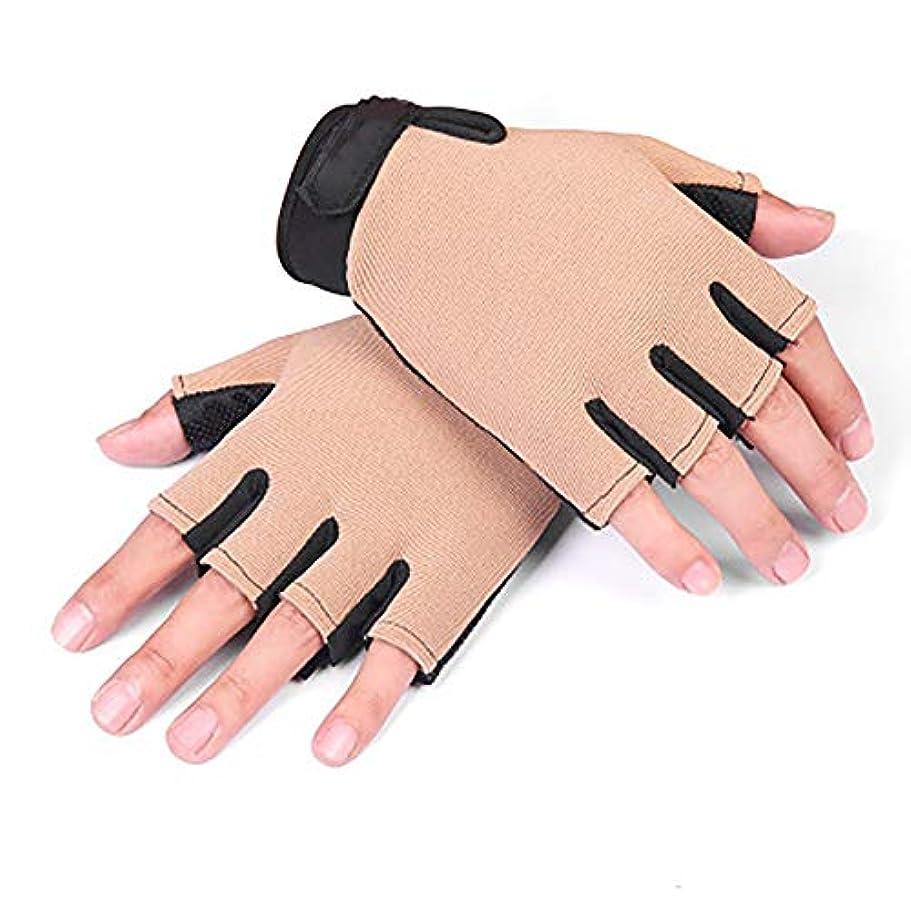 ピジンウイルスかすかなBMY ジム用手袋夏用指なしソフト通気性弾性フィットネス手袋用プルアップバートレーニングフィットネス