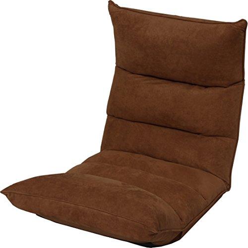 アイリスプラザ 14段階リクライニング座椅子 極 低反発 スウェード生地 ダークブラウン 幅約56×奥行約58~137×高さ約140~70cm FC-560B