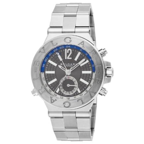 [ブルガリ]BVLGARI 腕時計 ディアゴノ シルバー文字盤 自動巻 DG40C14SSDGMT メンズ 【並行輸入品】