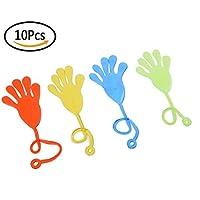 10個非毒性ソフトゴムSticky Stretchy Jelly Slap手おもちゃランダム色