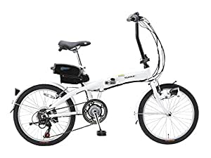 SUISUI(スイスイ) 折りたたみ電動アシスト自転車 BM-A30 ホワイト 3灯LEDライト付 5.8Ahリチウムイオンバッテリー搭載 20インチ 6段変速 アルミフレーム 28473-1223