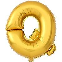 uxcell 風船 ゴールドトーン フォイル レター Q 風船 ヘリウム パーティー 誕生日 結婚式 祭り 装飾