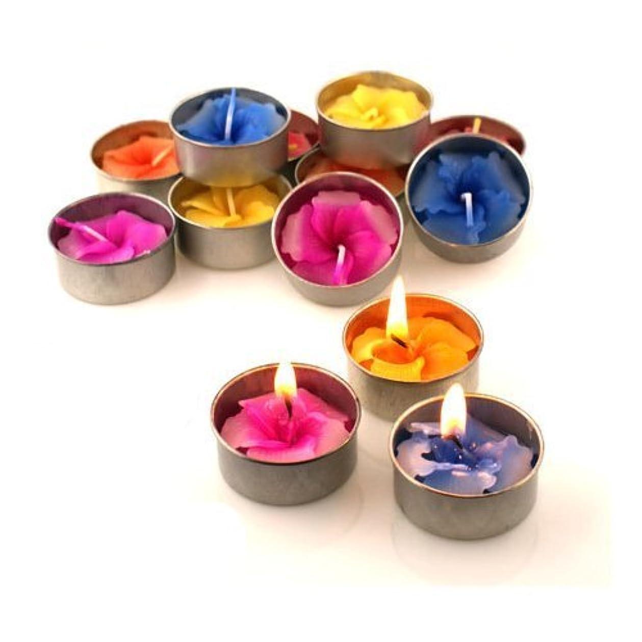 炎上悲しむ地雷原Relax Spa Shop @ Hibiscus Candle in Tea Lights , Floating Candles, Scented Tea Lights ,Aromatherapy Relax, Decorative...