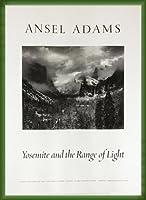 ポスター アンセル アダムス Yosemite and the Range of Light 額装品 ウッドベーシックフレーム(グリーン)