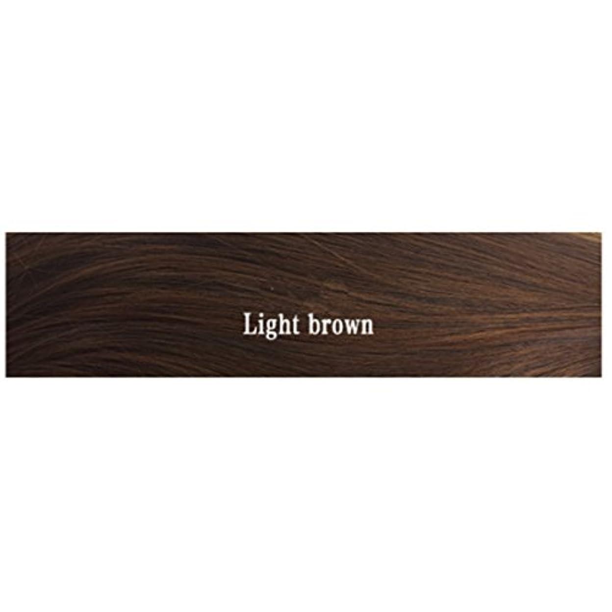 上げるかる樹木JIANFU 女性 耐熱 長い ストレート ウィッグ 人間の髪 フラット バンズ ウィッグ ナチュラル カラー パーティ 220g (Color : Light brown)