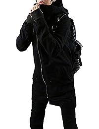 [KMAZN]メンズ ファッションコート ミリタリー モッズコート ロングコート 無地 大きいサイズ冬物