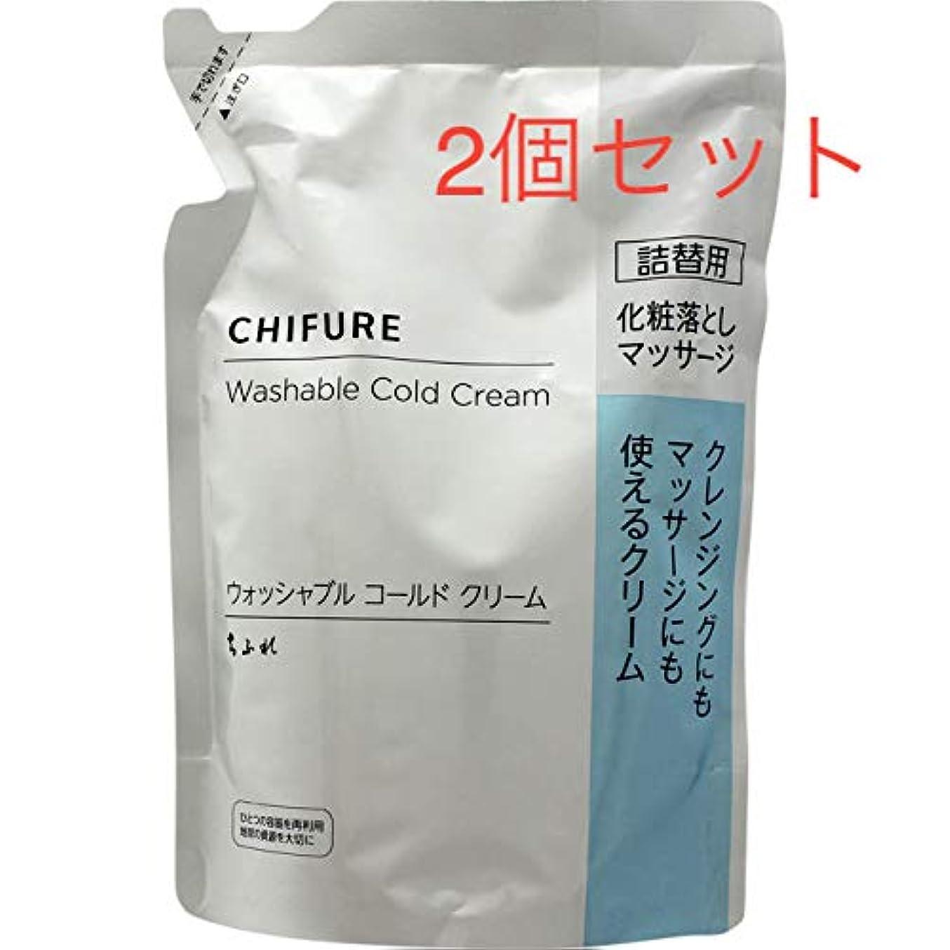 日没危険波紋ちふれ化粧品 ウォッシャブルコールドクリームN詰替 300g 2個セット