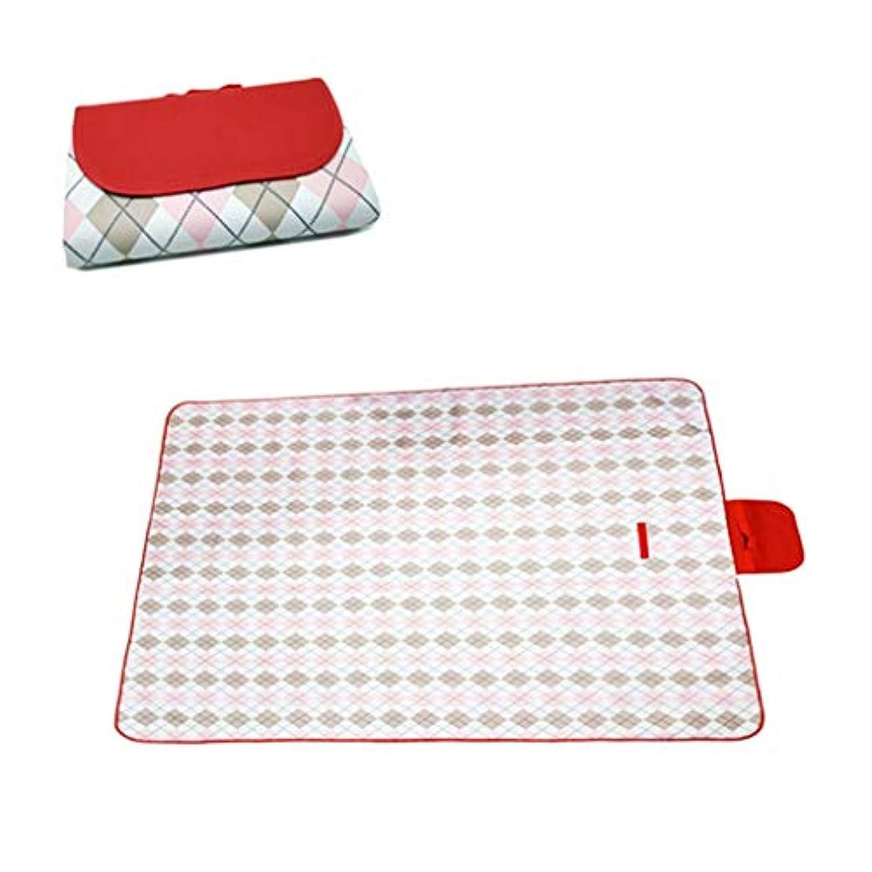 シャープトン繊細Jucaiyuan ピクニック毛布、ビーチに適した屋外の防水携帯用パッドハンドバッグ防水、キャンプの草旅行 (色 : Pink freshv, Size : 145x110)