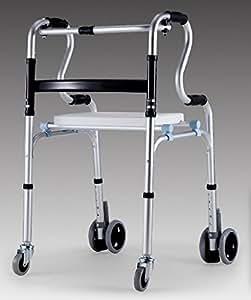 Primelife 折りたたみ式アルミ歩行補助器 5段階高さ調節 持ち手高さ2段タイプ