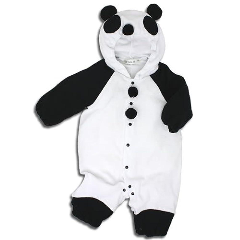 見積りプットハイランド【パンダ】着ぐるみ フード付き カバーオール 70cm ベビー コスチューム