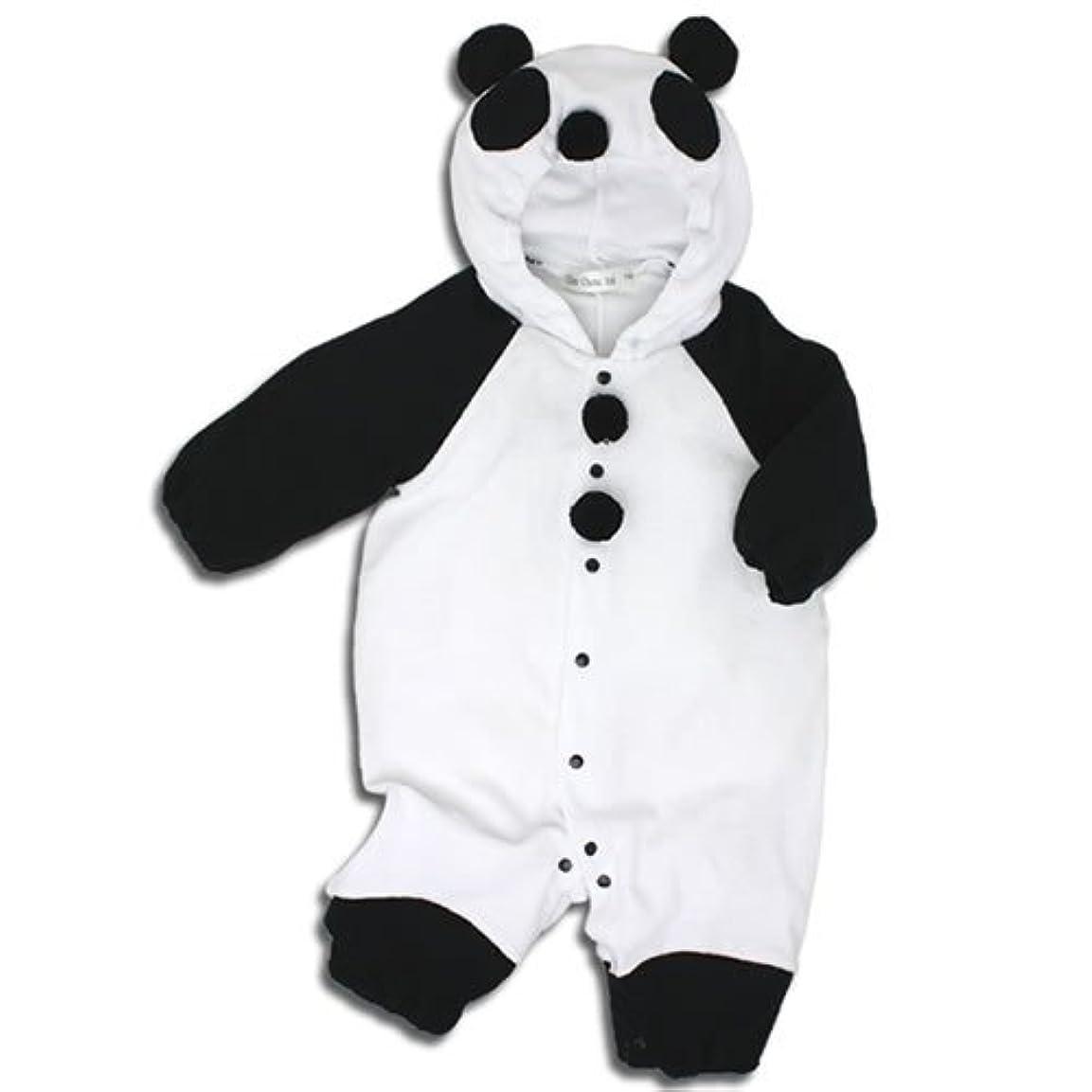 養うスピリチュアル無効【パンダ】着ぐるみ フード付き カバーオール 70cm ベビー コスチューム