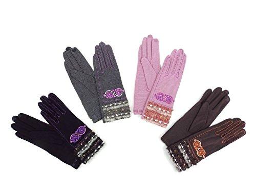 (アナスイ) ANNA SUI 手袋 AS0165 (ブラック系)
