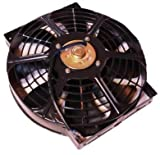 (mind items) 10インチ 汎用 薄型 電動ファン プッシュ式 吹風式 12V 自動車用