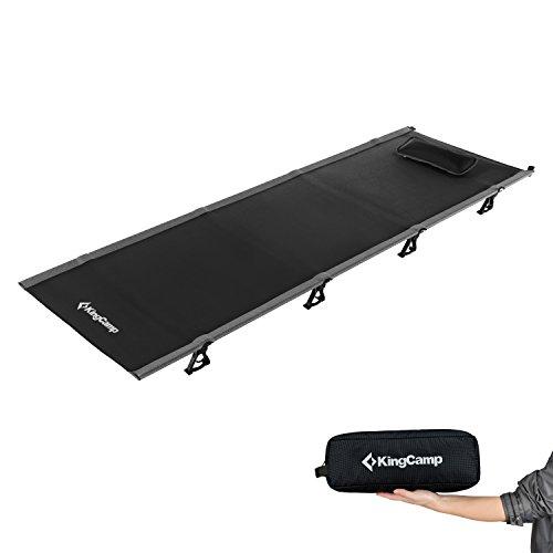 KingCamp(キングキャンプ) ベッド コート アウトドア コンパクト 超軽量 折りたたみ キャンプ 重さ2KG 耐荷重120KG (ブラック) KC3986