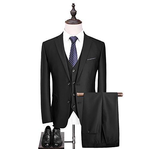 OSCN7-0 カジュアル スリム 2つのボタン 防シワ メンズスーツ ビジネス ビジネススーツ ファッション パーティ/結婚式 スタイリッシュスーツ 3ピーススーツ...