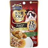 ユニチャーム 猫用ウェットフード 銀のスプーン おいしいスープ 13歳以上用 まぐろ・かつおにしらすとかつお節入り 40g