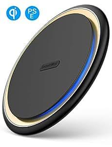 【2019最新版 】DesertWest Qi 15W ワイヤレス充電器【Qi認証済み/PSE認証済】 ワイヤレス急速充電器 置くだけ充電 ワイヤレスチャージャー 15W / 7.5W/ 10W 滑り止め qi 充電器 無線充電器 無接点充電器 iPhone XS / XS Max / XR / X / 8 / 8 Plus、Galaxy S9 / S9+ / S8 / S8+/S10/S10+/Sony xperia xz2/xz3/その他Qi対応機種 usb type c ケーブル付属