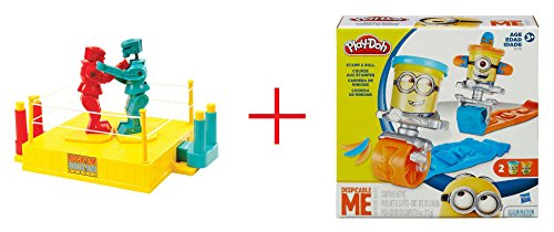 Rock ' em Sock ' em Robots Game and play-doh Stamp and Roll Set Featuring怪盗グルーミニオンズ–バンドル