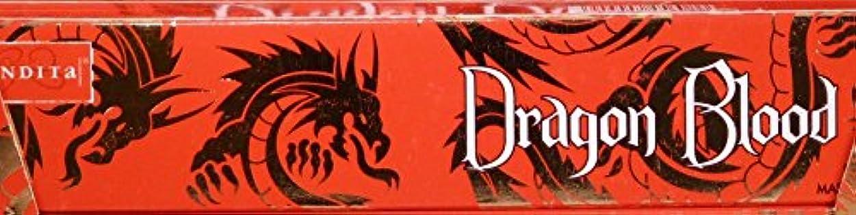 とらえどころのない繁殖失われたNandita Dragon Blood 15g お香スティック 3箱パック