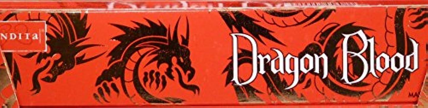 教義撤回する緊張Nandita Dragon Blood 15g お香スティック 3箱パック
