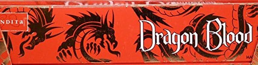 圧力マザーランド飢えNandita Dragon Blood 15g お香スティック 3箱パック