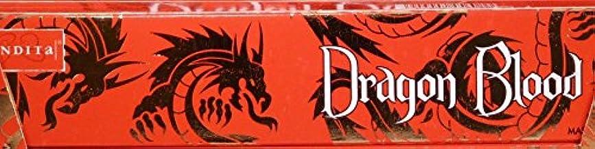 けがをする吹雪噴出するNandita Dragon Blood 15g お香スティック 3箱パック