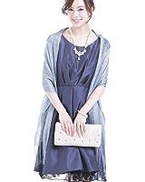 ストール ショール 羽織物 ラメ 編み込み 結婚式 二次會 お呼ばれ a019