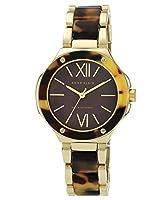 [女性用腕時計]Anne Klein Women's Quartz Watch with Brown Dial Analogue Display and Brown Plastic Bracelet AK/N1148BMTO[並行輸入品]