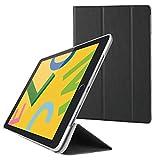エレコム iPad 10.2 (2019) ケース フラップケース 背面クリア ソフトレザー 2アングル スリープ対応 ブラック TB-A19RWVBK