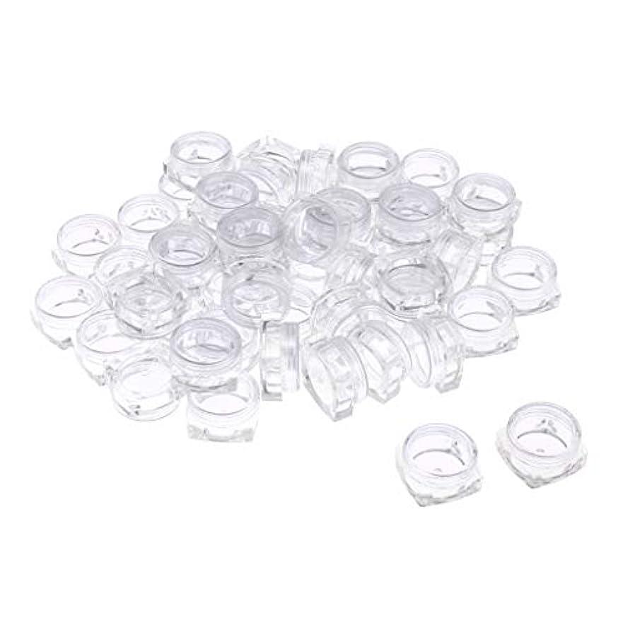 Perfeclan 50個入 5g 小分け丸ケース 化粧品用ボトル 小分け容器 詰替え容器 クリームケース クリア - クリア