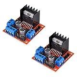HiLetgo 2個セット モジュール L298N デュアルHブリッジ DCステップ モーター ドライバー コントローラー ボード Arduinoと互換 [並行輸入品]